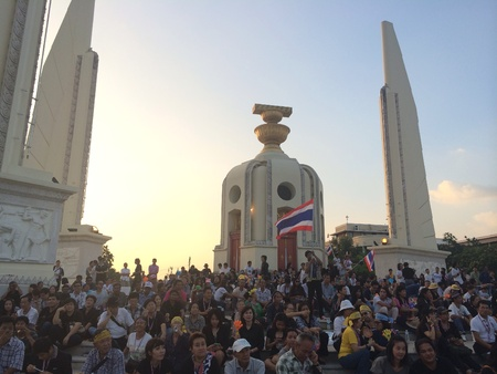 Thai people protest for the governments amnesty bill on November 5th 2013