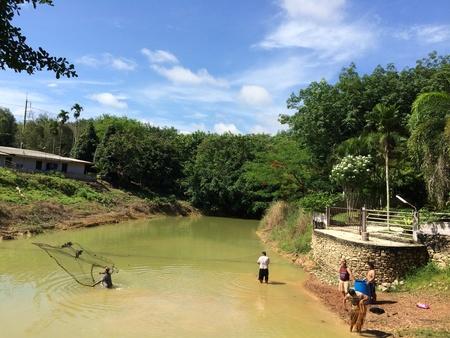red: Las personas se contagian de peces en estanque local