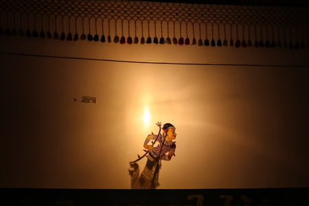 Thai shadow puppets show or Nang Talung
