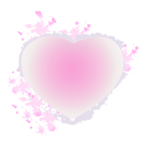 An illustration of a pink heart vector