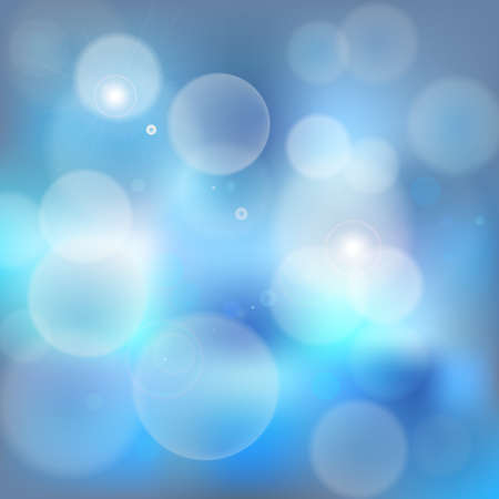 Light blue bokeh abstract background vector