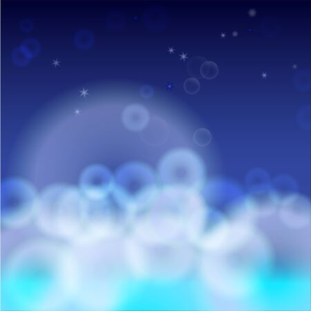 Bubbles on abstract background vector