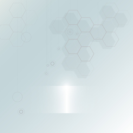 Abstract technology  background with hexagon shape
