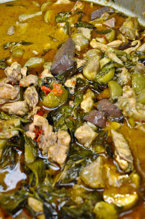 chili sauce: Spicy Thai green curry (Gaeng Keow Wan Gai) with rice