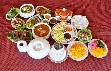 Thai Dishes course eaten with rice Stock Photo - 8602139