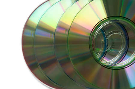 silver cd isolated on a white background photo
