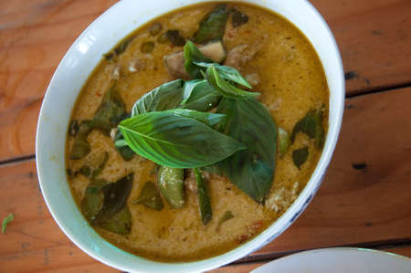 Spicy Thai green curry (Gaeng Keow Wan Gai) Imagens