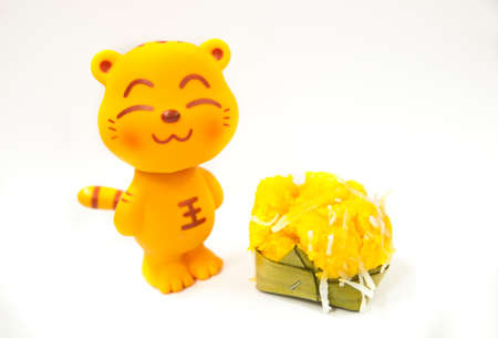 cat toy happy it get e essert sweet sugar palm cake with Coconut photo