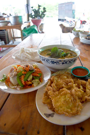 thai food set for eat