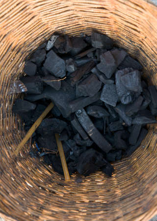 Image of charcoal in black Stock Photo
