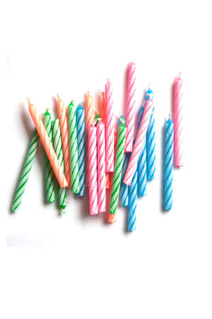 Colorful birthday Candles on isolated background