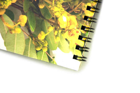 Photograph of a spiral floewr notebook Stock Photo - 9682768