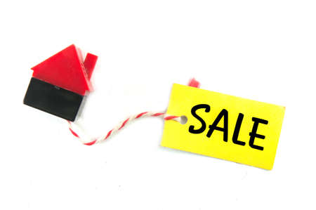 home sale tag on white background