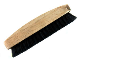 Brown shoe brush for cleaning photo