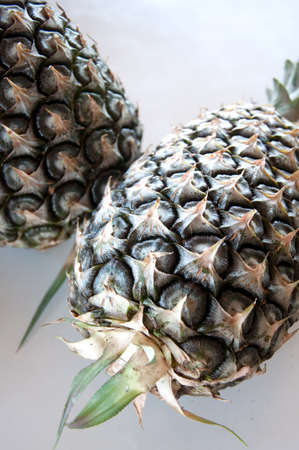 backgruond: Pineapple Isolated on white backgruond Stock Photo