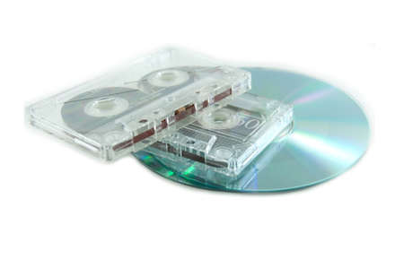 CD replace cassette Tape in globalization Stock Photo