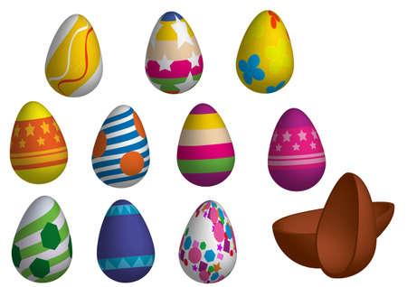 Easter egg set Stock Vector - 10963530