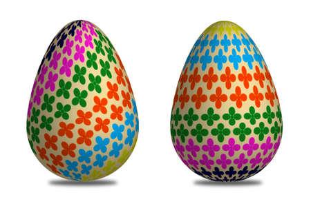 3D easter egg pattern of flower photo