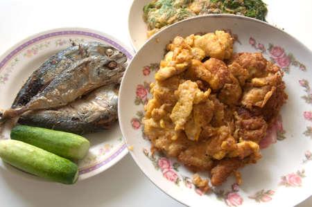 set of thai tradition food photo