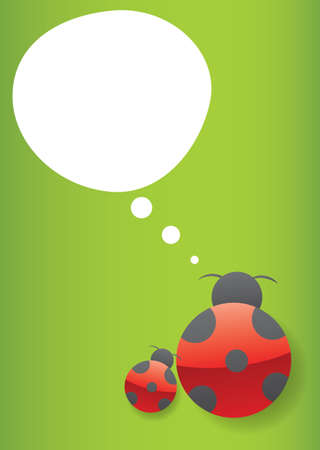 ladybug think Stock Vector - 11118996