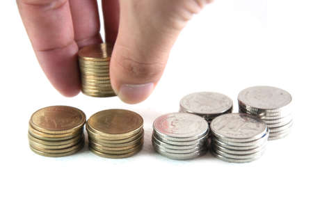 count money by hand on white isolate Stock Photo - 11592181