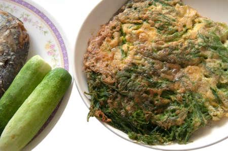 cha-om kai - Acacia Pennata thailand food photo
