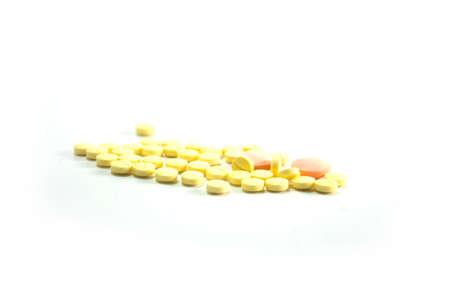 depressant: many  generic medicine on white background