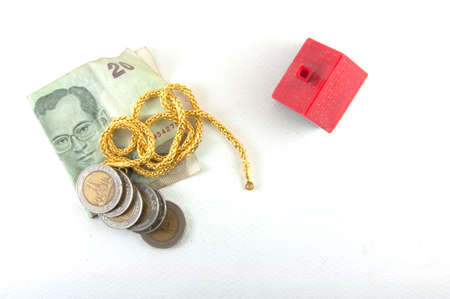 gold and money for change new home photo