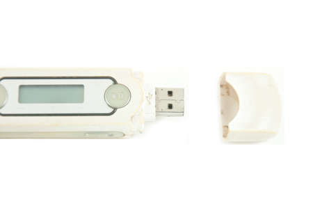 Generic usb mp3 player isolated over white photo