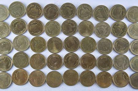 Thai Coin 2 baht gold and silver photo