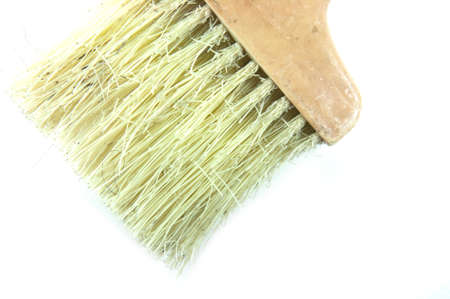old bristles on white background Stock Photo - 12880427