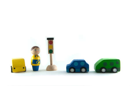 model traffic by wood toy