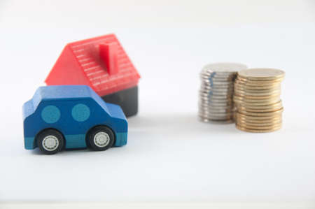 change money with car and home-model photo