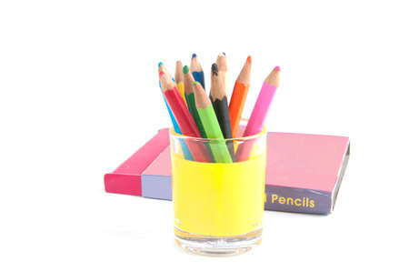 Color pencils isolated on a white background Stock Photo - 12882889