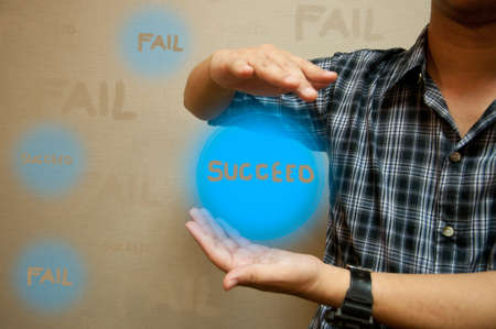 choice succeed or fail in you business Stock Photo - 13138254