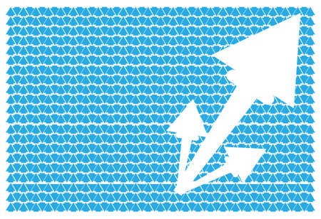 white arrow on blue background Vector