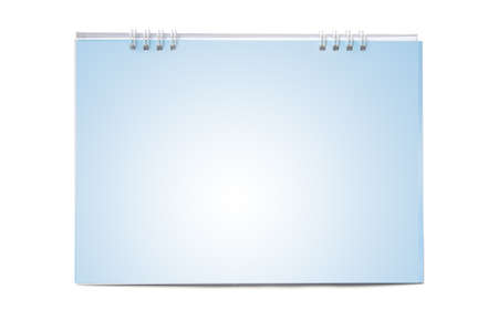 Blank calendar isolated on white photo