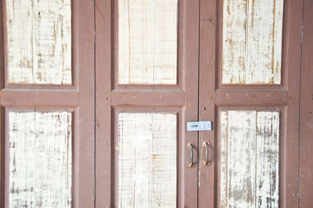 close-up image of wood door photo