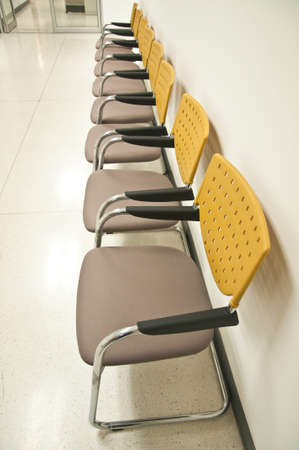 chairs waiting the yellow chairs pattern yellow chairs Stock Photo - 13425579