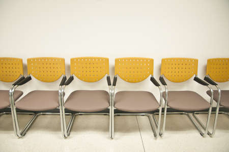 chairs waiting the yellow chairs pattern yellow chairs Stock Photo - 13425578