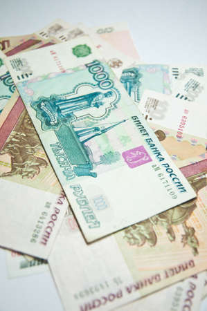 Russian big money  Blackground of bank notes roubles Stock Photo - 13475381