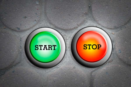 button one  start and one stop - 50 50 Stock Photo - 13621001