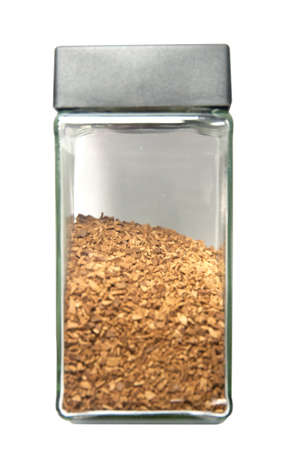 Jar of instant coffee isolated. photo