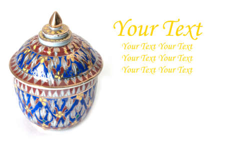 Thai bowl design on white backgrounds Stock Photo - 13825479