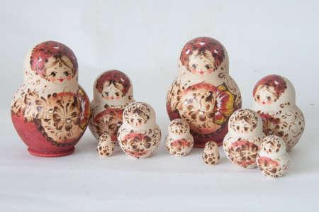 matrioska: Matrioska Russian Doll, side by side Stock Photo