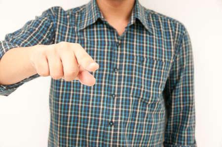 Thai Business man showing finger Stock Photo - 13853676