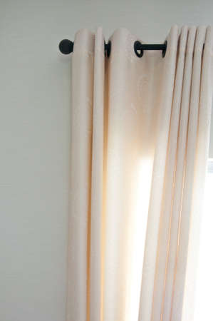 white curtain  have interior decoration in home photo