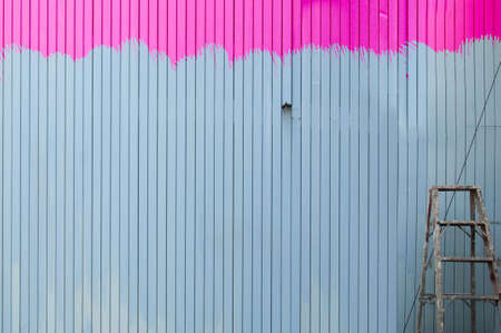 pink color painting wall in home Stock Photo - 14032415