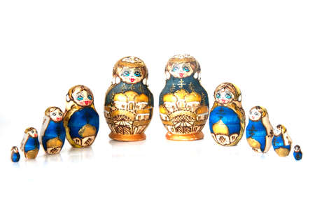 decreasing in size: Russian dolls -  matrioska   modern Wood craft  From Moscow,Russia