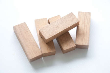 toy wood on white background Imagens